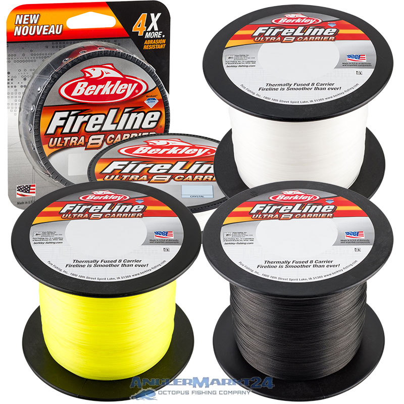 Berkley FireLine ULTRA 8 ab 50m Smoke, Crystal & Fluo Green