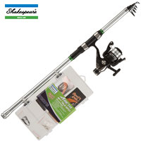 Shakespeare CATCH MORE FISH 2 Tele Spin 8FT Combo