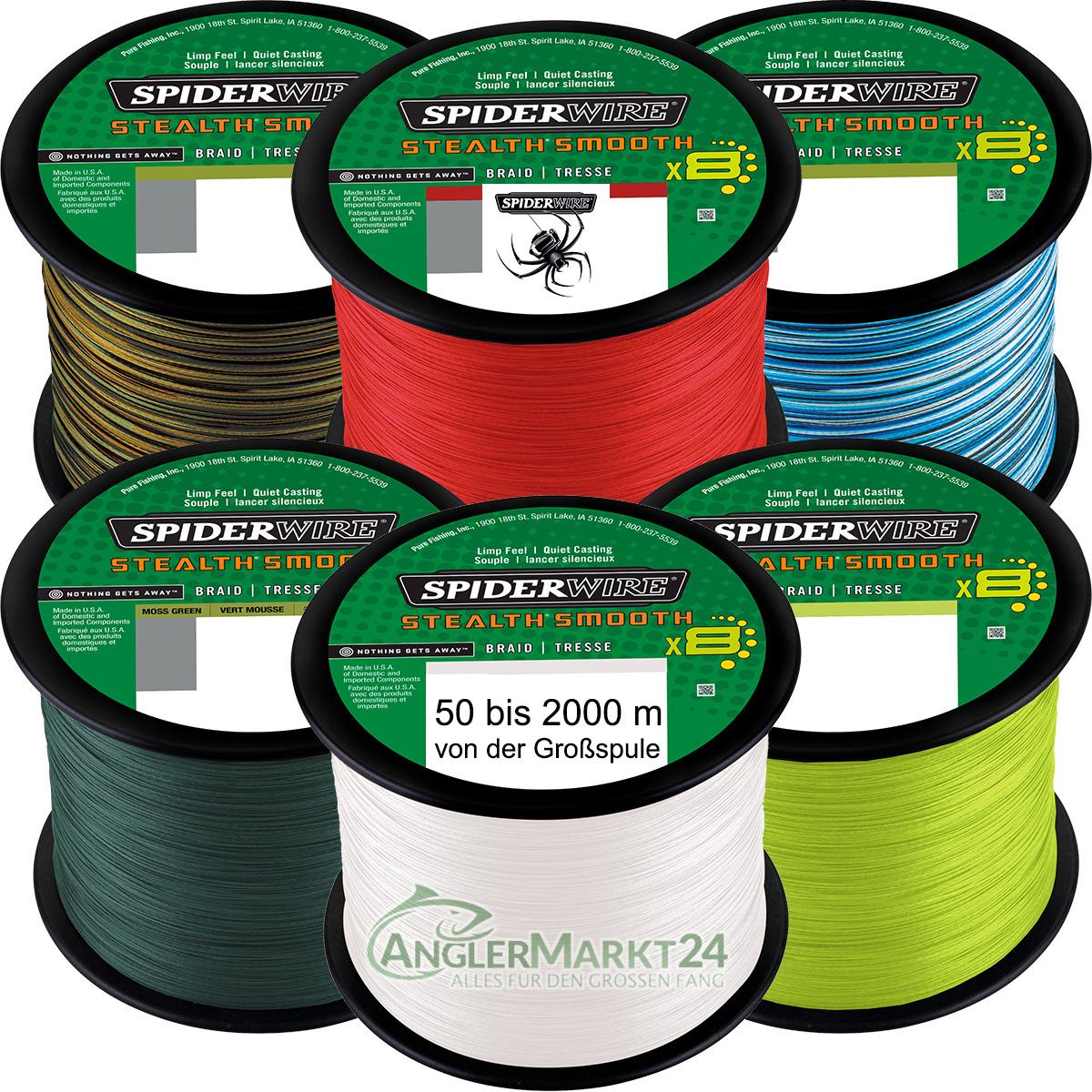 NEW Spiderwire Stealth SMOOTH 8 ab 50m alle Stärken & Farben