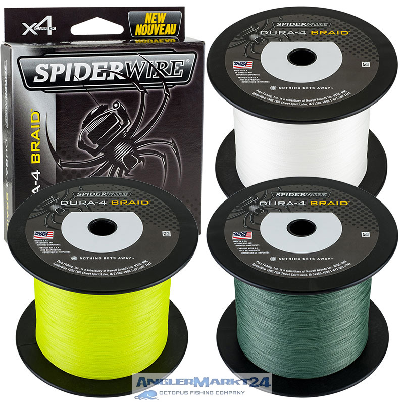 Spiderwire DURA-4 Braid je 50m Yellow, Green oder Translucent