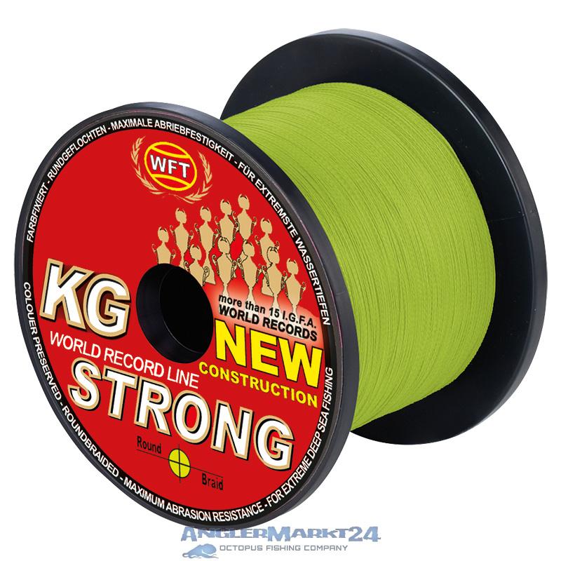 """WFT """"KG Strong Chartreuse"""" ab 50m geflochtene Angelschnur"""