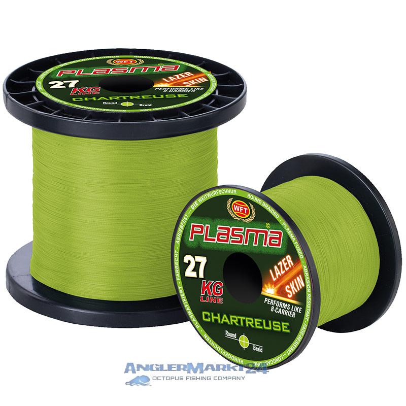 """WFT """"KG Plasma Chartreuse"""" je 50m Lazer Skin geflochtene Angelschnur"""