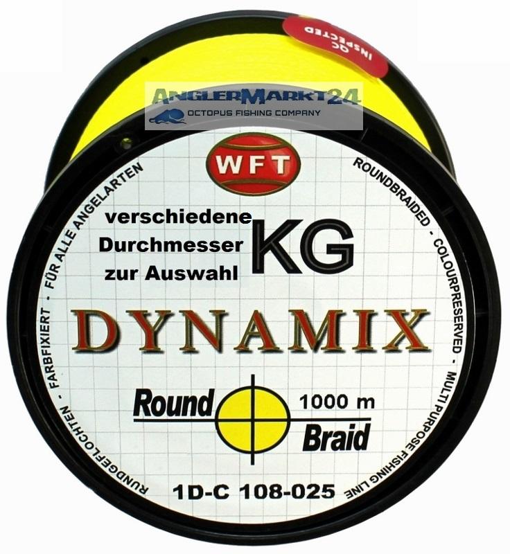 WFT Round DYNAMIX KG GELB 1000m Original-Spule