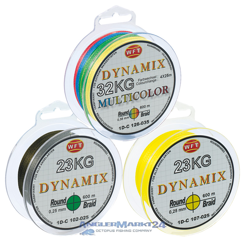 "600m WFT ""KG Round Dynamix"" Original-Spule Grün, Gelb oder Multicolor"